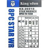 Kingsdun Small Torx Screwdriver Set with T5 T6 T7