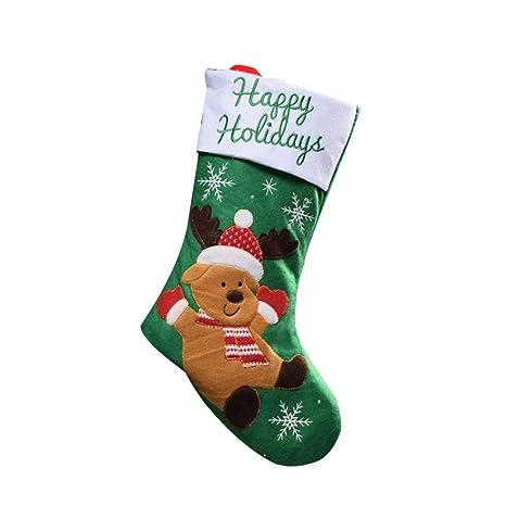 Reputedc Calcetín de Navidad, decoraciones de Navidad, calcetines de alce, calcetines de frutas