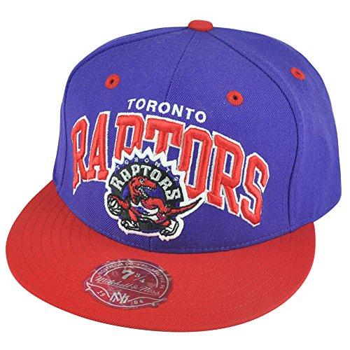 NBA Mitchell Ness Toronto Raptors TU14 2 Tone Arch Fitted Hat Cap 7 3/4