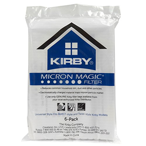 Great Deal! Kirby 6 Cloth F Style Vacuum Bags Sentria II Ultimate G Diamond G6 G5 G4 204811