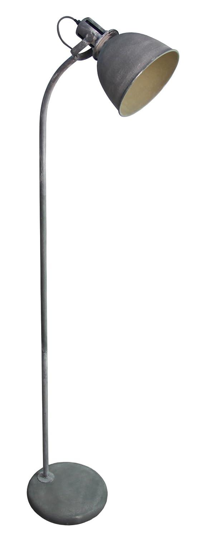 Vintage Stehleuchte im Industry Design, 1x E27 max. 60W, Metall, grau Beton Lightbox