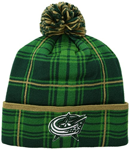 fan products of NHL Nashville Predators Adult SP17 St. Patrick's Day Cuffed Knit with Pom, Green, One Size
