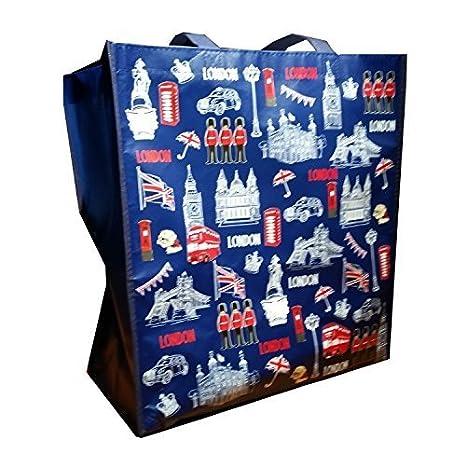 My London Souvenirs - Bolsa de mano con diseño de monumentos icónicos de Londres Bolsa de la compra reutilizable / Recuerdo/ Souvenir. Bolsa de mano ...