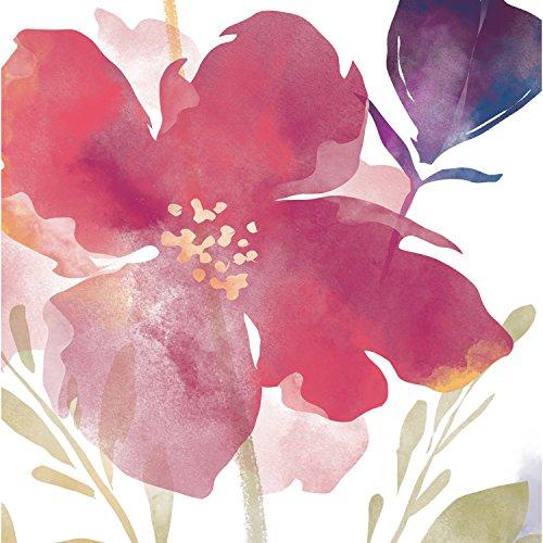 Foil Accent (Cypress Home Boho Watercolor Floral Foil Paper Cocktail Napkins, 20 count)