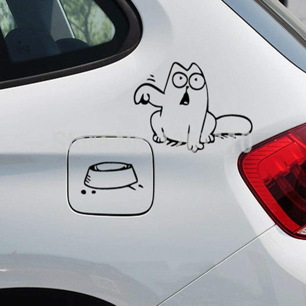 Motivo: Simpatici Simpatici Gatti Tira mico Adesivo per Auto Che /è Affamato Materiale Riflettente Pet HERCHR Adatto per Il Gatto Simons