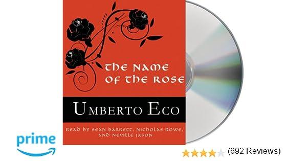 The Name of the Rose: Umberto Eco, Theodore Bikel: 9781427259219: Amazon.com: Books