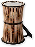 REMO Talking Drum, 8'' Diameter, 16'' Height, Fabric Afr Stripe
