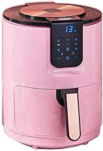 Air Fryer, 3.5L Large Capacity, 1400W, Fast Air Circulation System, Low Fat Healthy Cooker, Fries-free Oven-Pink