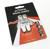 Alligator Classic cartucho de freno de bicicleta de carretera compatible Zapatos Pads con Shimano Dura Ace/Ultegra/105/SRAM para llantas de aleación, Color Plateado