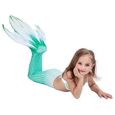 KDDD Traje de Baño Sirena de Las Muchachas Bikini Set Cola ...