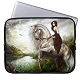 Eratio Fairy Princess Riding Horse Neoprene Laptop Sleeve 15 Inch Macbook Air Case Macbook Pro Sleeve and 15 Inch Laptop Bag