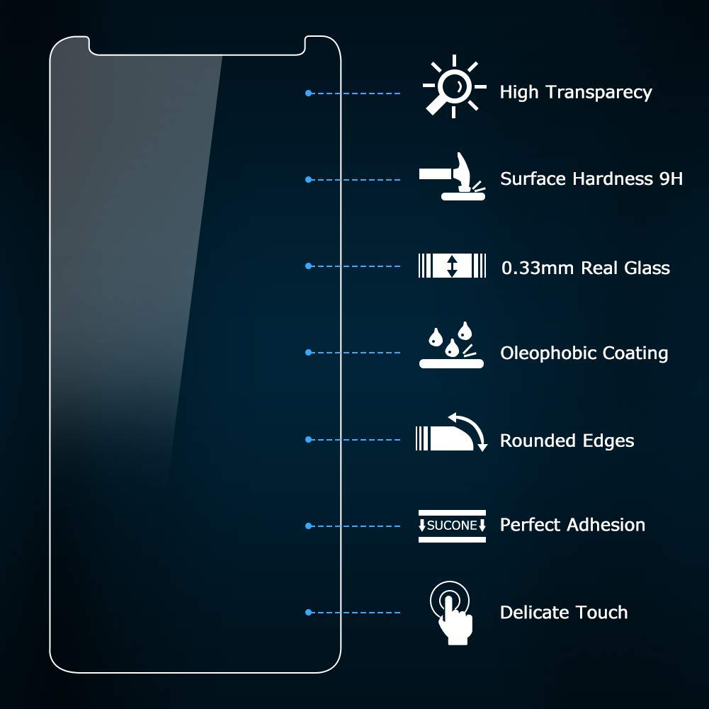 Vkaiy [2 Unidades Protector De Pantalla para BQ Aquaris V, Ultra Cristal Vidrio Templado 9H Dureza 3D Touch Compatible para BQ Aquaris V: Amazon.es: ...
