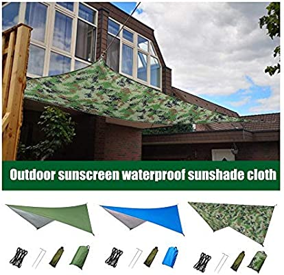 Garden Patio Outdoor Sun Shade Sail Sunscreen Square Oxford Fabric Awning Canopy