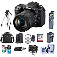 Nikon D7500 DSLR with AF-S DX NIKKOR 16-80mm f/2.8-4E ED VR Lens - Bundle With 32GB SDHC Card, Camera Bag, Tripod, Spare Battery, Remote Shutter Trigger, 72mm Filter Kit, Software Package, And More