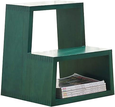 Taburete plegable de 2 niveles, escaleras de madera Taburetes pequeños para pies Taburete plegable de madera para adultos y niños Escalera plegable de interior Banco de zapatos portátil / Estante de: Amazon.es:
