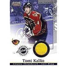 Tomi Kallio Hockey Card 2002-03 Pacific Exclusive Jersey #1 Tomi Kallio