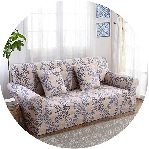 Floral Sofa Cover Slipcovers Elastic Stretch Tight Wrap Sofa Couch Cover,Color 14,2-Seater 145-185Cm Cotton Duck Upholstered Headboard