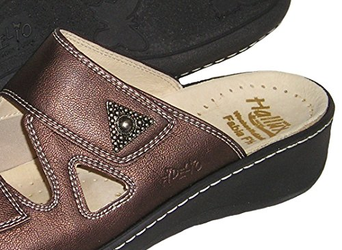Fidelio Donna Hallux Fabia Borsite Sandalo Diapositiva A Rilievo 33709 (bronzo)