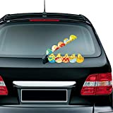 Meitinalife Halloween Peeping Chicks Waving Wiper Decal for Rear Window 3D Cartoon Festive Car Sticker Vinyl Decal for Vehicle Rear Wipers Decoration with 1 Random Bunny Decal