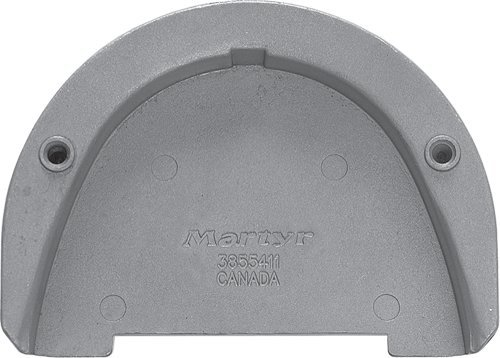 Martyr CM3855411A, Aluminum Alloy Volvo Penta Transom Plate Anode for SX drive