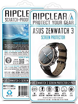 Ripclear Asus ZenWatch 3 Smartwatch Screen Protector Kit ...