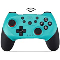 Wireless Switch Pro Controller for Nintendo Remote Bluetooth Gamepad Joystick for Nintendo Switch Console & PC Supports Gyro Axis Turbo and Dual Vibration and Compatible with Switch Lite (Blue)