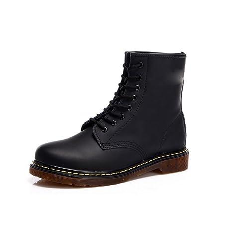 Zapatos De Invierno para Hombres Cordones Botas Senderismo Trabajo De Viaje Calcetines De Pie,Black