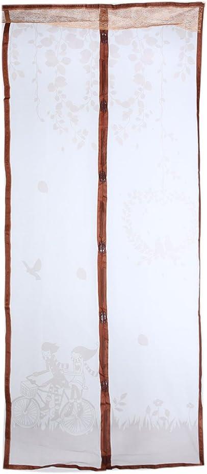 Everpert Mosquitera Puerta Magn/ética Cortina de Puerta Magn/ética Durable de Tulle de la Mosca Anti del Mosquito Cort/ó la Cortina de Puerta de Malla