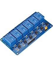 Lysignal 6 Channel DC 5V Relay Module Relay Expansion Board with Optocoupler Insulation for Arduino