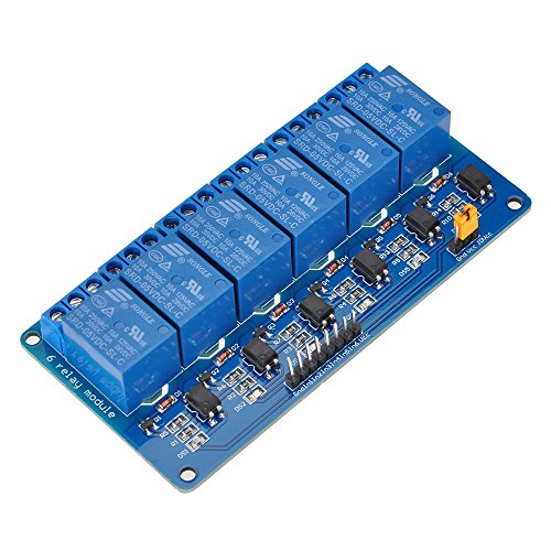 Mechanical Relay - Lysignal 6 Channel DC 5V Relay Module Relay Expansion Board with Optocoupler Insulation for Arduino