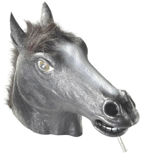 (Black Horse Mask : Deluxe Latex Animal)