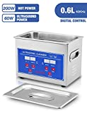 Jakan Ultrasonic Cleaner - Professional Quality Cleaner for Jewelry, Watches, Gold, Platinum, Diamonds, Eyeglasses, Sunglasses, Dentures, Coins, Metal Parts, Gun Parts, Gears - 0.6L Tank