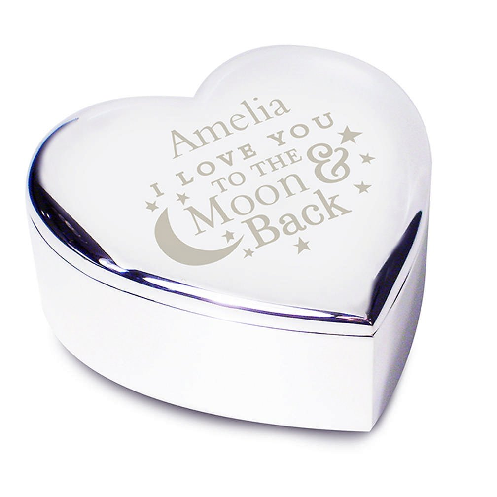 'I Love You To The Moon & Back' Personalised Trinket Box ~ Gift For Her, Valentine's Day, Anniversary Valentine's Day