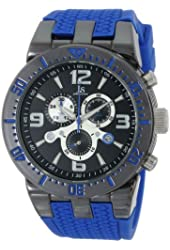 Joshua & Sons Men's JS55BU Swiss Chronograph Blue Metal Sport Watch