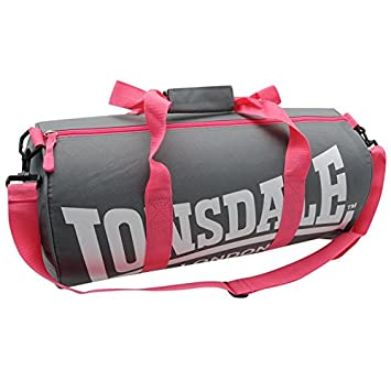 Amazon.com   Lonsdale Barrel Bag Different Styles of Colors (Charcoal pink)    Beauty f5fcf920f9269