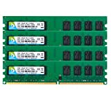 DUOMEIQI 8GB Kit (4 X 2GB) DDR2 667MHz UDIMM 2RX8 PC2-5300 PC2-5400 240pin CL5 1.8v Unbuffered Non-ECC Dual Channel Desktop Memory RAM Module for Intel AMD System