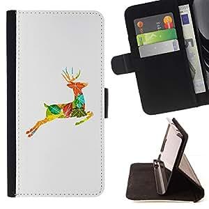 Momo Phone Case / Flip Funda de Cuero Case Cover - Dibujo Otoño Collage Naturaleza - Samsung Galaxy A5 ( A5000 ) 2014 Version