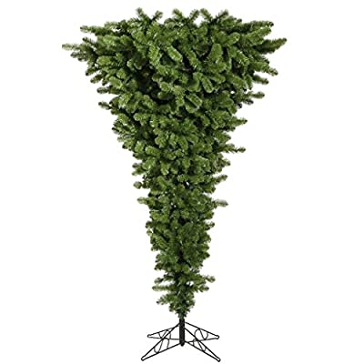 "Vickerman 306583 - 108"" Green Upside Down Tree with 1000 Multi Color LED Lights Christmas Tree (A107482LED)"