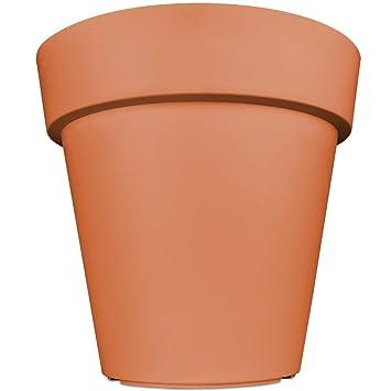 Pot De Fleurs Plantes Jardiniere Xxl Lofly En Plastique Cache Pot 49x46cm Terracotta