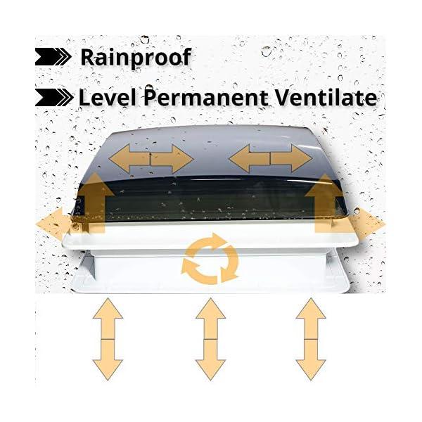 51eFXIMzx L Belüftung für Wohnmobil RV Dachventilator, automatischer Wohnmobilventilator mit Regensensor, level permanenter…