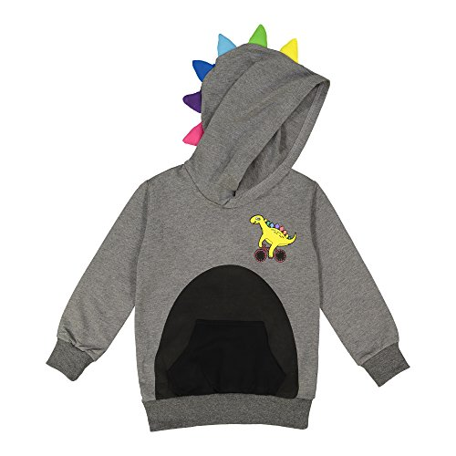Doodle Pants Dino Gray With Rainbow Spikes Hoodie 3D -