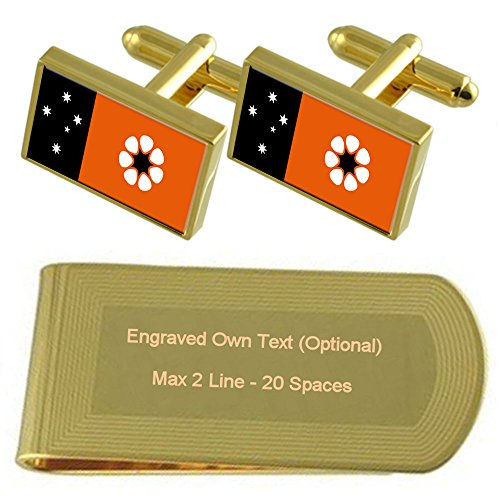 Gift Gold Money Territory Clip Set Cufflinks Flag Engraved Northern tone wX18UXx