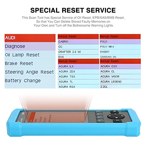 LAUNCH CR8001S Auto Scan Tool Code Reader Diagnostic OBD2 Scanner with ABS,  SRS, Engine and Transmission Diagnoses and Oil Light Reset, EPB, SAS, BMS