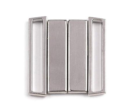 real mejor valorado famosa marca de diseñador 100% de alta calidad 1pr de Níquel Metal Bikini Broche de Ancho 25 mm, Lencería Y ...