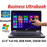 Dell Latitude E7240 Business Flagship Laptop, 12.5? FHD IPS Touchscreen, Intel Core i7-4600U up to 3.3GHz, 8GB RAM, 256GB SSD, Backlit Keyboard, Windows 8 PRO (Certified Refurbished)