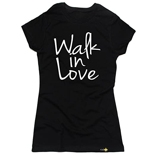 Amazoncom Radiate Apparel Womens Walk In Love T Shirt Clothing
