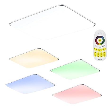 48W LED RGB Ultraslim Moderno Lámpara de techo dormitorio Cocina Piso Salón Lámpara de pared Lámpara Ahorro De Energía Luz