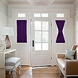 Nicetown Blackout Door Curtain for Privacy - Energy Efficient Patio Door / Glass Door Drape Panel (One Piece, W25 x L40-Inch, Royal Purple)