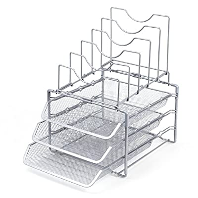 Seville Classics Office Desk Organizer, Mesh 6-Trays