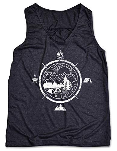 - Camping Tank Top Women I Hate People Camping T Shirt Camping Shirts for Women Hiking Vintage Summer Camp Tank (Dark Heather Grey - Women Tank Top, M)